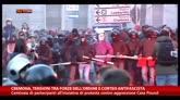 24/01/2015 - Cremona, tensioni tra forze ordine e corteo antifascista