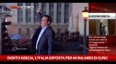 Debito Grecia, l'Italia esposta per 40 miliardi di euro