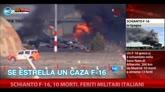 Schianto F-16, 10 morti. Feriti militari italiani