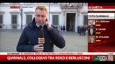 Quirinale, colloquio tra Renzi e Berlusconi