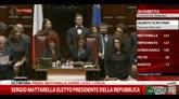 Boldrini proclama eletto Mattarella, 665 voti