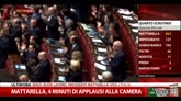 31/01/2015 - Mattarella, 4 minuti di applausi alla Camera