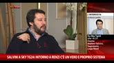 Salvini a Sky TG24: una vergogna passaggio di membri al PD