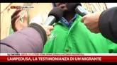 Lampedusa, testimonianza di un migrante