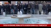 """Tifosi Feyenoord, Roma sotto assedio danni alla """"barcaccia"""""""