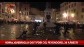 Roma, guerriglia dei tifosi del Feyenoord, 28 arresti