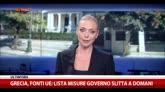 """Grecia, fonti UE: """"Lista misure Governo slitta a domani"""""""