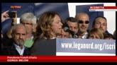 Manifestazione Roma, l'intervento di Giorgia Meloni