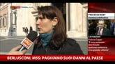 Berlusconi, M5S: paghiamo suoi danni al Paese