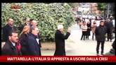 """Mattarella: """"L'Italia si appresta a uscire dalla crisi"""""""