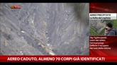 Aereo caduto, almeno 70 corpi già identificati