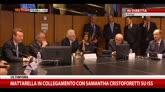 Mattarella in collegamento con Samantha Cristoforetti su ISS
