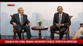 12/04/2015 - Usa-Cuba, Obama: incontro storico, spirito di apertura
