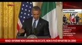 Renzi: Stati Uniti siano modello per economia europea