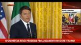 Crisi internazionale e economia in incontro tra Obama-Renzi