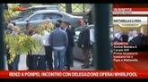Renzi a Pompei, incontro con delegazione operai Whirlpool