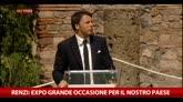 Renzi: Expo grande occasione per il nostro paese
