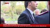 Pompei, Renzi incontra Agenti Polizia di Stato