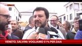 Veneto, Salvini: vogliamo il 51% per Zaia