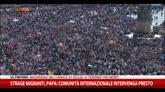 Strage migranti, Papa: comunità internazionale intervenga