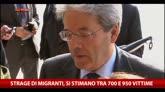 Naufragio migranti, Gentiloni: serve una risposta politica