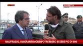 20/04/2015 - Naufragio migranti, Bianco: Catania proclama lutto cittadino