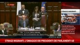 Strage migranti, l'omaggio dei presidenti dei parlamenti Ue