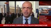 """Sbarchi, Alfano: """"Europa metta Italia in condizione di fare"""""""