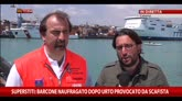 21/04/2015 - Barcone naufragato dopo urto provocato da scafista