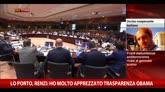 """24/04/2015 - Lo Porto, Renzi: """"Ho molto apprezzato trasparenza Obama"""""""