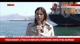 24/04/2015 - Migranti, attraccato mercantile coinvolto nel naufragio