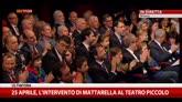 25 aprile, l'intervento di Mattarella al Teatro Piccolo