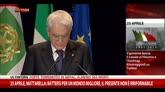25 aprile, Mattarella: Resistenza fondamento etico Italia