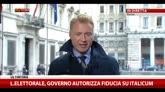 Legge elettorale, Governo autorizza fiducia suill'Italicum