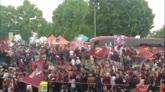 L'arrivo del Torino a Superga