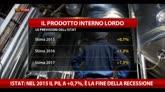 Istat: nel 2015 Pil a +0,7%, è la fine della recessione