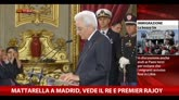 Mattarella a Madrid, vede il re e Premier Rajoy