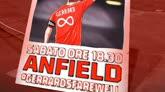 15/05/2015 - Liverpool, tutto pronto per l'ultima ad Anfield di Gerrard