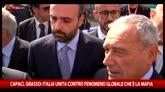 """Capaci, Grasso: """"Italia unita contro la mafia"""""""