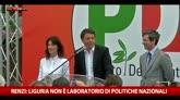 """Renzi: """"In Liguria non ci si occupa dei giochini romani"""""""