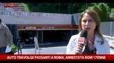 Roma, auto pirata sui passanti