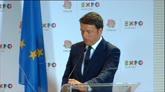 """Renzi a Putin: """"Vogliamo vincere i Mondiali in Russia"""""""