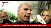 """Grecia, Varoufakis: """"Il piano dei creditori non è attuabile"""""""