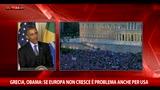 30/06/2015 - Grecia, Obama: se Europa non cresce è problema anche per Usa