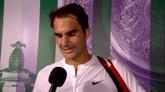 """30/06/2015 - Federer: """"Sono felice, ho giocato in modo aggressivo"""""""