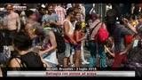 Battaglia con pistole ad acqua a Bruxelles