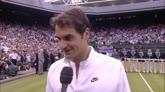 """12/07/2015 - Il fair play di Federer: """"Novak, te lo sei meritato"""""""