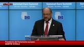 """12/07/2015 - Grecia, Schulz: """"Situazione senza precedenti"""""""