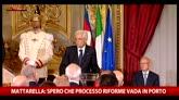 """Mattarella: """"Spero che il processo di riforme vada in porto"""""""