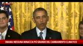 Obama: Abbiamo solo un pianeta, non c'è un piano B